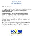voXmi-Informationsblatt am BRG Kepler Graz