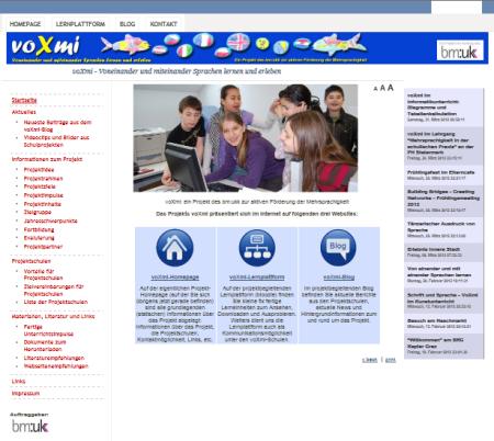 Neugestaltete voXmi-Homepage